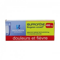 Ibuprofene biogaran conseil 400mg 10 comprimés pelliculés