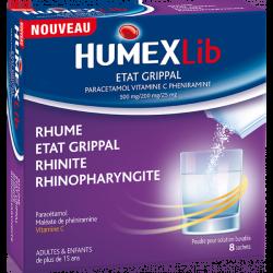 HumexLib État Grippal 8 Sachets