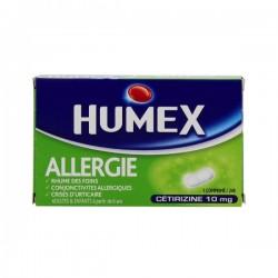 Humex allergie cetrizine 10mg 7 comprimés pelliculés sécables