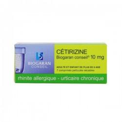 Biogaran Cétirizine 10 mg 7 comprimés