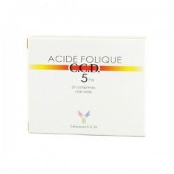 Acide folique CCD 5mg 20 comprimés