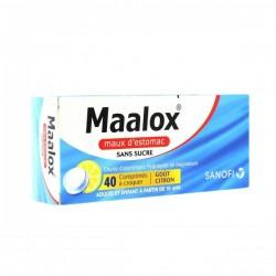 Maalox sans sucre 40 comprimés à croquer sorbitol maltitol