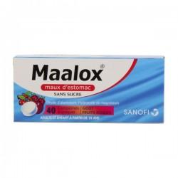 Maalox Sans Sucre Fruits Rouges 40 Comprimés