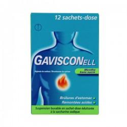 Gavisconell Menthe Sans Sucre Suspension Buvable 12 Sachets-Dose