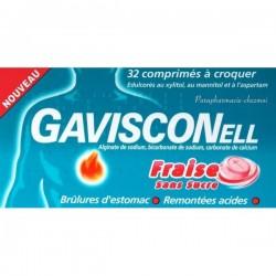 Gavisconell Sans Sucre Fraise 32 Comprimés à Croquer