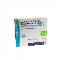 Alginate de sodium / Bicarbonate de sodium 24 sachets