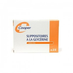 Suppositoire a la glycérine cooper adultes 25 suppositoires