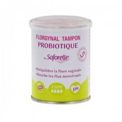 Saforelle Florgynal 8 Tampons Probiotiques Super