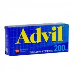 Advil 200mg 20 Comprimés Enrobés