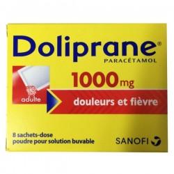 Doliprane 1000mg douleurs et fièvre 8 sachets