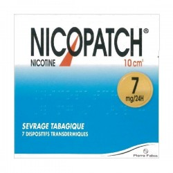 Nicopatch 7mg/24h dispositif transdermique 7 patchs