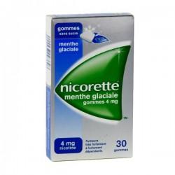 Nicorette Menthe Glaciale 4mg Sans Sucre 30 Gommes à Mâcher