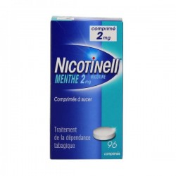 Nicotinell menthe 2 mg 96 comprimés