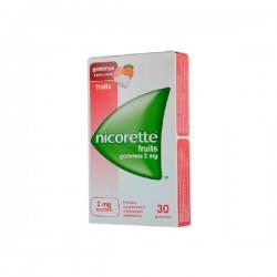 Nicorette Fruits 2mg Sans sucre 30 gommes à mâcher