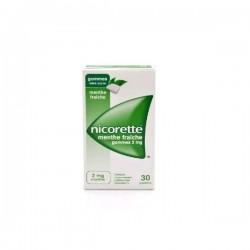 Nicorette Menthe Fraîche 2mg Sans sucre gomme à mâcher