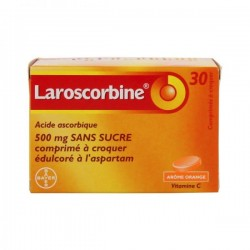 Laroscorbine 500mg sans sucre 30 comprimés à croquer édulcoré