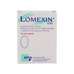 Lomexin 600mg capsule vaginale plaquette de 2