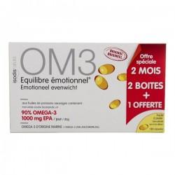 Complément équilibre émotionnel om3 2 boîtes+1 offerte 180 capsu