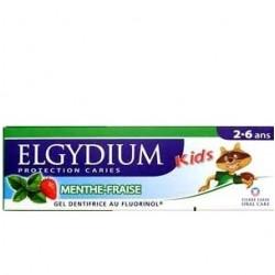 Elgydium Gel dentifrice kids 2 à 6 ans menthe fraise, 50ml