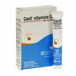 Cacit 500mg 60 comprimés effervescents