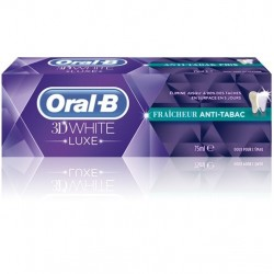 Oral B Dentifrice 3d white luxe fraîcheur anti-tabac, 75 ml