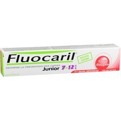 Fluocaril Dentifrice junior 7-12 ans fruits rouges, 50ml