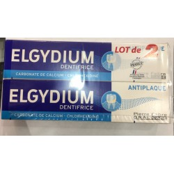 Elgydium dentifrice Antiplaque 2x75ml