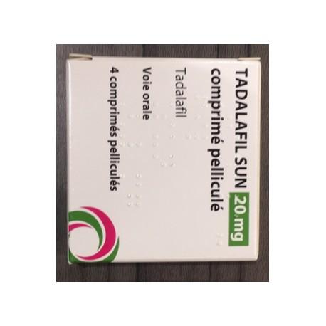 Cialis Gé, Tadalafil 20mg, 4 comprimés (Cialis® générique)