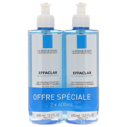Effaclar gel moussant purifiant duo, 2x400ml