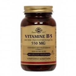 Solgar Acide pantothénique vitamine b5 550mg 50 gélules végétale