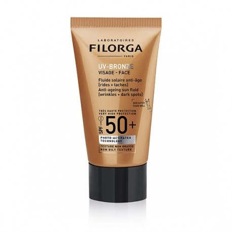 Filorga UV-bronze visage SPF50+ fluide solaire anti-âge 40ml