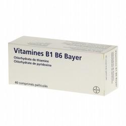Vitamines B1 B6 Bayer 20 comprimés