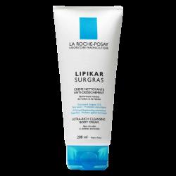 Lipikar surgras crème nettoyante anti-dessèchement, 200ml