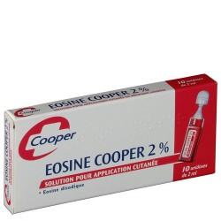 Cooper Eosine aqueuse 2% 2ml 10