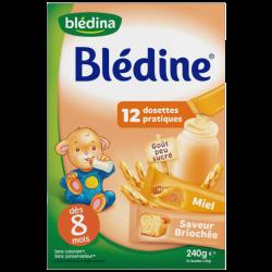 Blédina Blédine Céréales Miel & Saveur Briochée, 12 dosettes