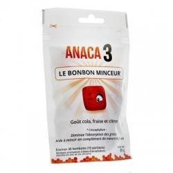 Anaca 3 Bonbon minceur x30 goût cola, fraise et citron 80g