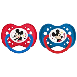 """Dodie Sucette +18 mois """"Duo Mickey"""" Silicone avec Anneau N°A65,"""