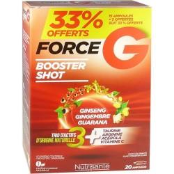 Force G Booster shot Ginseng Gingembre Guarana Taurine