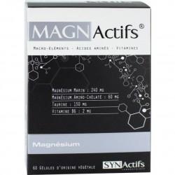 Aragan Magn actifs magnésium, taurine, vitamine b6, 60 gélules