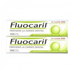 Fluocaril Dentifrice bi-fluoré menthe 250mg, pâte lot de 2x125ml
