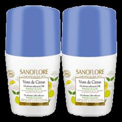 Sanoflore Vent de Citrus Roll-on, 2x50ml
