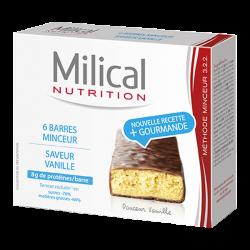 Milical Barres Minceur Hyperprotéinées Vanille 6 barres