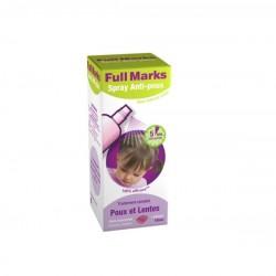 Full Marks Spray Anti-poux et Lentes 150 ml + peigne a poux