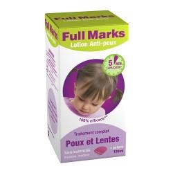 Full Marks Lotion Anti-poux et Lentes 100 ml + peigne a poux