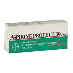Aspirine Protect 300 mg 30 comprimés gastro-résistants