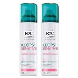 Roc Keops Déodorant spray sec peaux fragiles 2x150ml