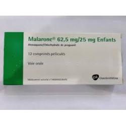 Malarone 62,5mg/25mg, 12 comprimés
